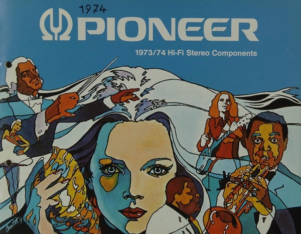 Pioneer 1973/74 Hi-Fi Stereo Components Prospekt / Katalog