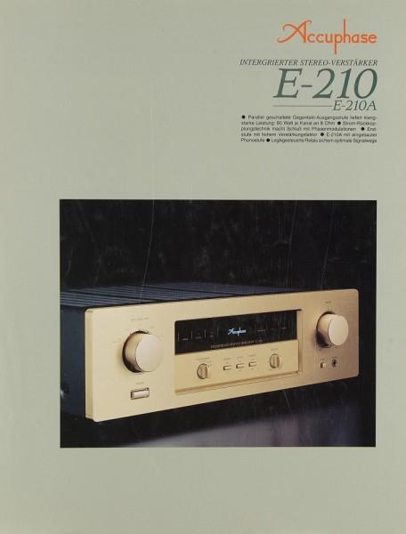 Accuphase E-210 / E-210 A Prospekt / Katalog