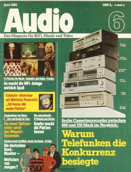 Audio 6/1982 Zeitschrift