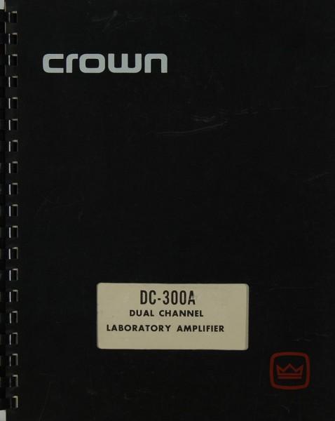 Crown DC-300 A (Model IM-3 A) Bedienungsanleitung