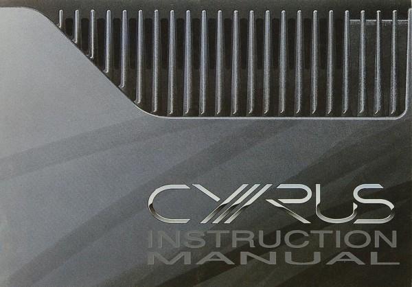 Mission / Cyrus Power Amplifier Bedienungsanleitung