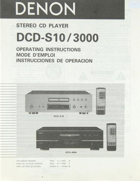 Denon DCD-S10 / 3000 Bedienungsanleitung