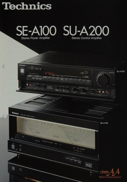 Technics SE-A 100 / SU-A 200 Prospekt / Katalog