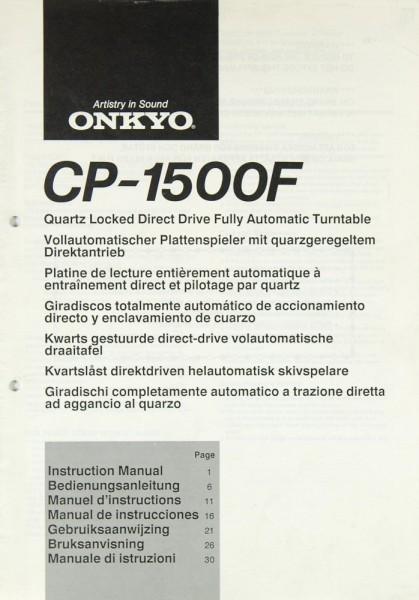 Onkyo CP-1500 F Bedienungsanleitung