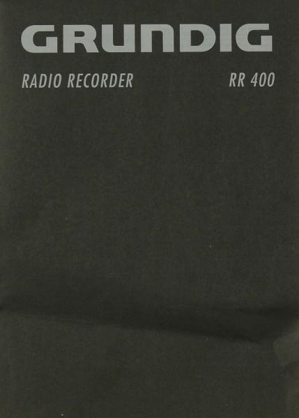 Grundig RR 400 Bedienungsanleitung