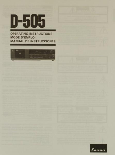 Sansui D-505 Bedienungsanleitung