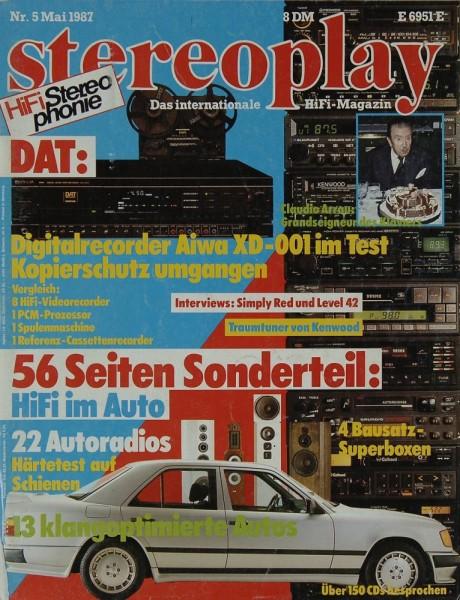Stereoplay 5/1987 Zeitschrift