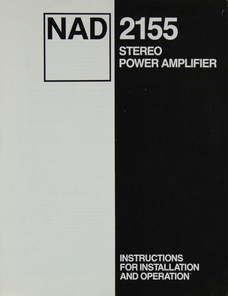 NAD 2155 Bedienungsanleitung