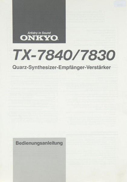 Onkyo TX-7840 / 7830 Bedienungsanleitung