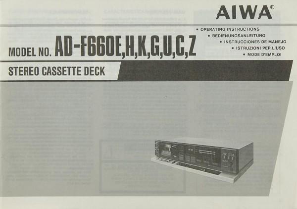 Aiwa AD-F 660 E/H/K/G/U/C/Z Bedienungsanleitung