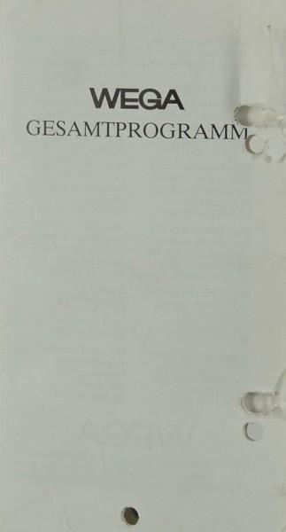 Wega Gesamtprogramm Prospekt / Katalog