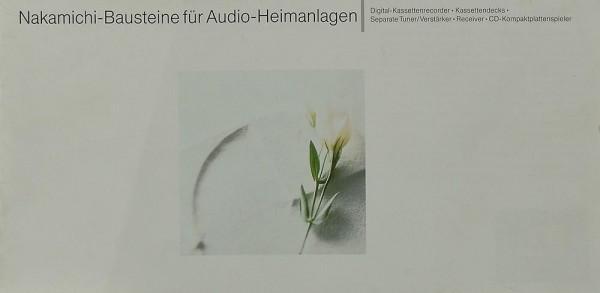 Nakamichi Bausteine für Audio-Heimanlagen Prospekt / Katalog