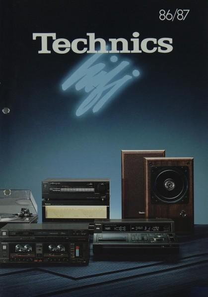 Technics 86/87 Prospekt / Katalog