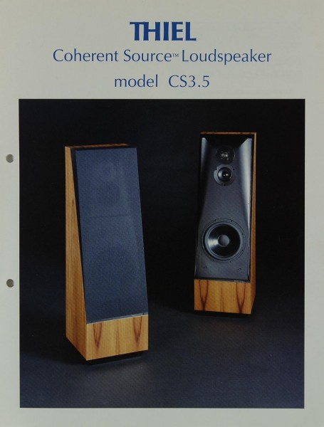 Thiel Model CS 3.5 Prospekt / Katalog