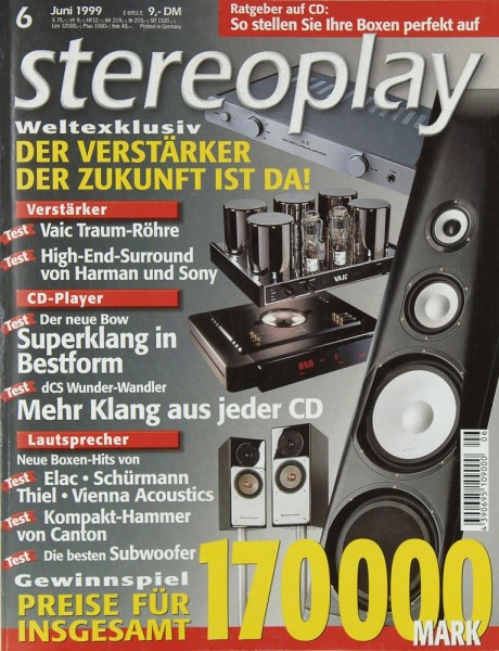Stereoplay 6/1999 Zeitschrift