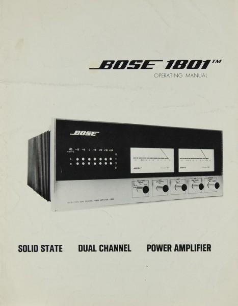 Bose 1801 Bedienungsanleitung