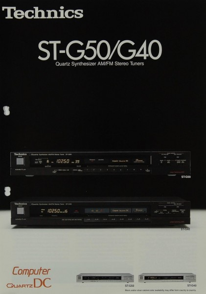 Technics ST-G 50 / G 40 Prospekt / Katalog