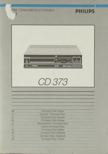 Philips CD 373 Bedienungsanleitung