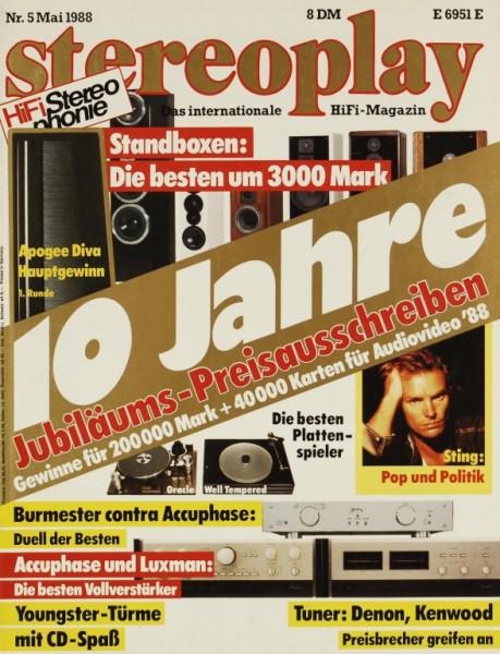 Stereoplay 5/1988 Zeitschrift