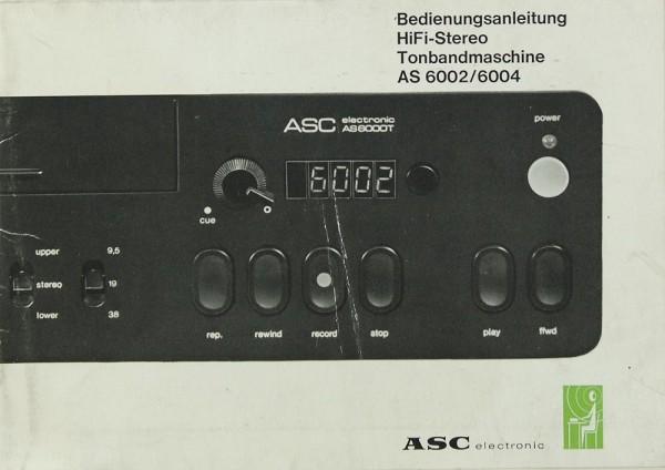 ASC AS 6002 / 6004 Bedienungsanleitung