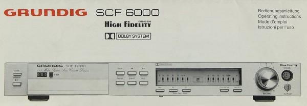 Grundig SC -6000 Bedienungsanleitung