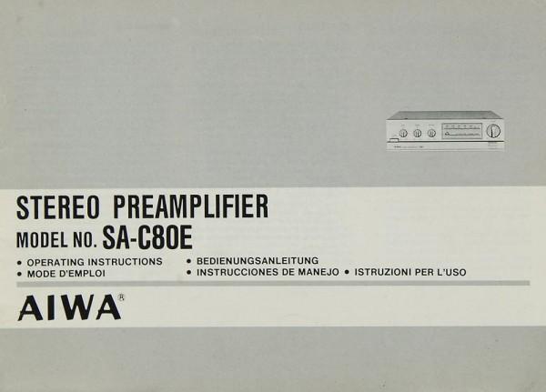 Aiwa SA-C 80 E Bedienungsanleitung