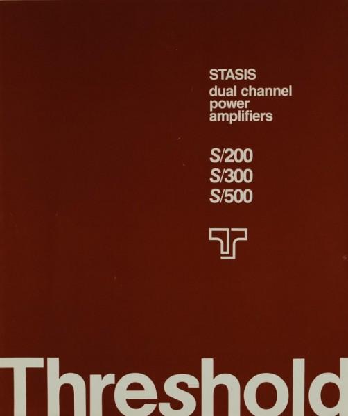 Threshold S/200 S/300S/500 Prospekt / Katalog