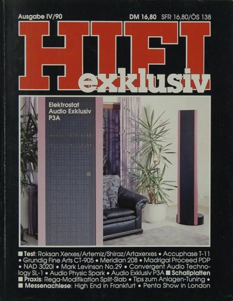 Hifi Exklusiv IV / 90 Zeitschrift
