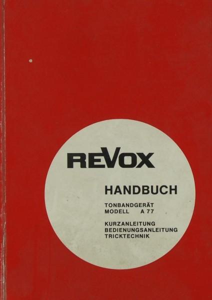 Revox Modell A 77 Bedienungsanleitung