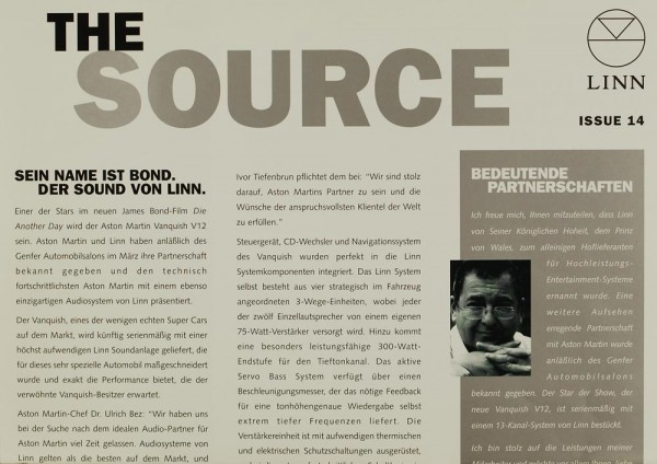 The Source - Linn Issue 14 Zeitschrift
