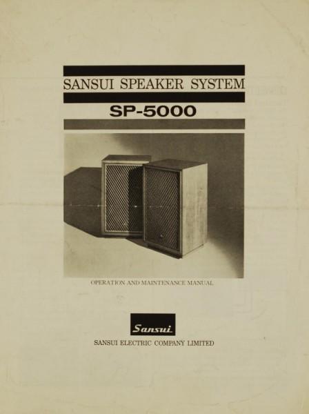 Sansui SP-5000 Bedienungsanleitung