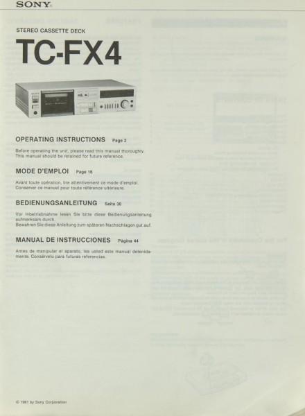 Sony TC-FX 4 Bedienungsanleitung