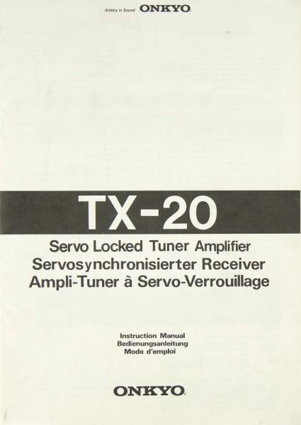 Onkyo TX-20 Bedienungsanleitung