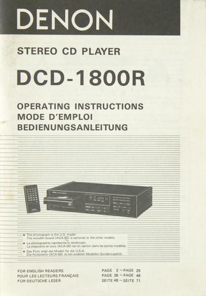 Denon DCD-1800 R Bedienungsanleitung