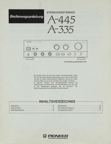 Pioneer A-445 / A-335 Bedienungsanleitung