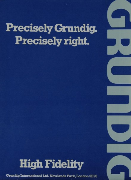Grundig Precisely Grundig. Precisely right. Prospekt / Katalog