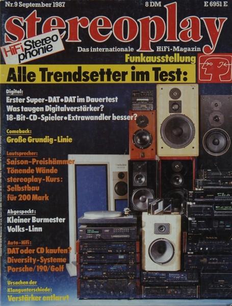 Stereoplay 9/1987 Zeitschrift
