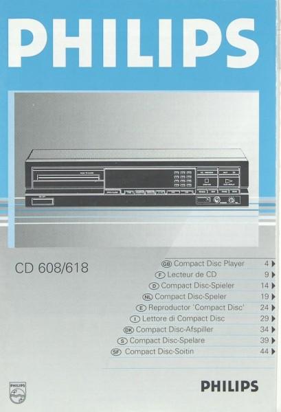 Philips CD 608 / 618 Bedienungsanleitung