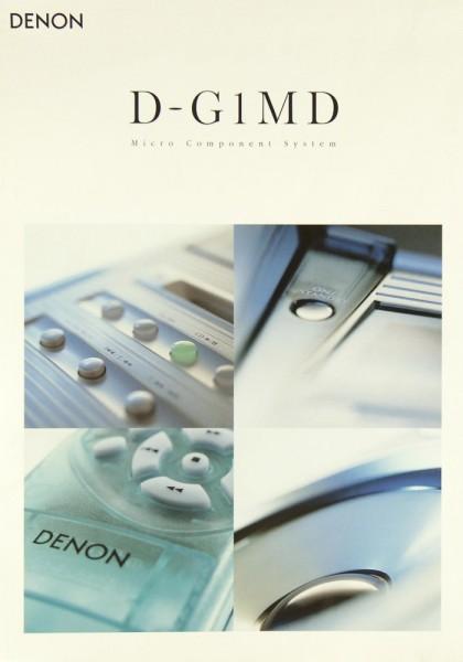 Denon D-G 1 MD Prospekt / Katalog