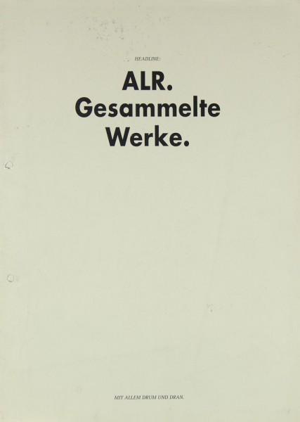 ALR Preisliste 93/94 / Nummer 7 / Info Prospekt / Katalog