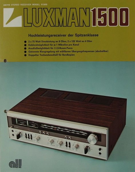 Luxman R 1500 Prospekt / Katalog