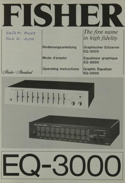Fisher EQ-3000 Bedienungsanleitung