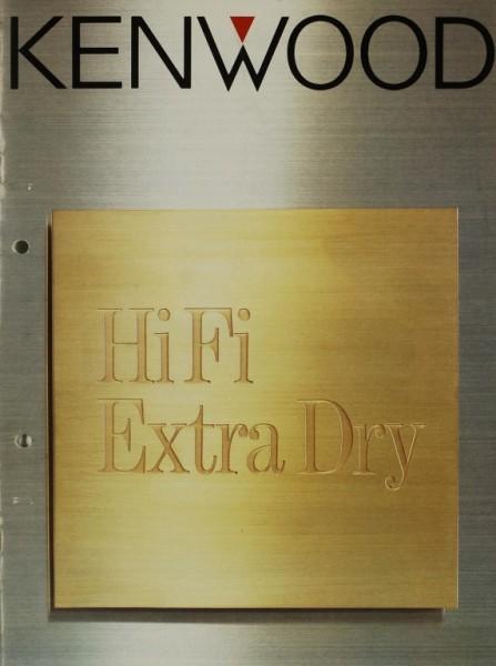 Kenwood HiFi Extra Dry Prospekt / Katalog