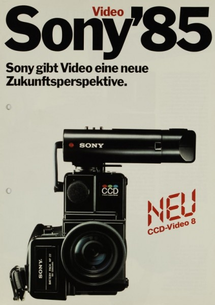 Sony Sony ´85 - CCD-Video 8 etc. Prospekt / Katalog