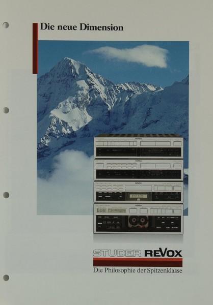 Revox B 250 / B 260 / B 208 / B 209 Prospekt / Katalog