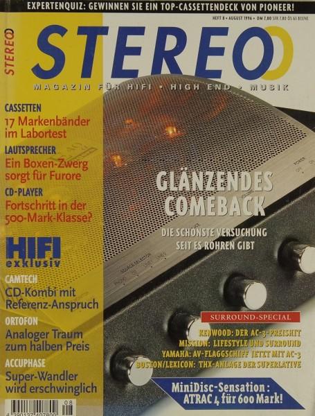 Stereo 8/1996 Zeitschrift
