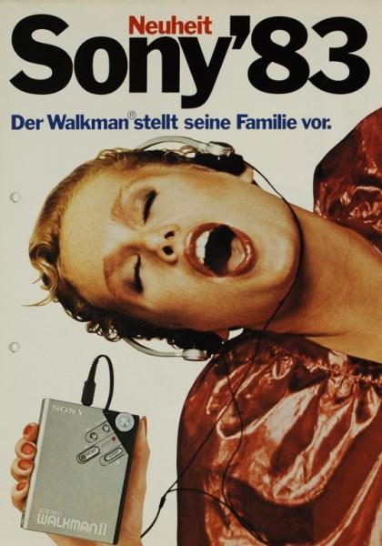 Sony Sony ´83 - Der Walkman stellt seine Familie vor Prospekt / Katalog