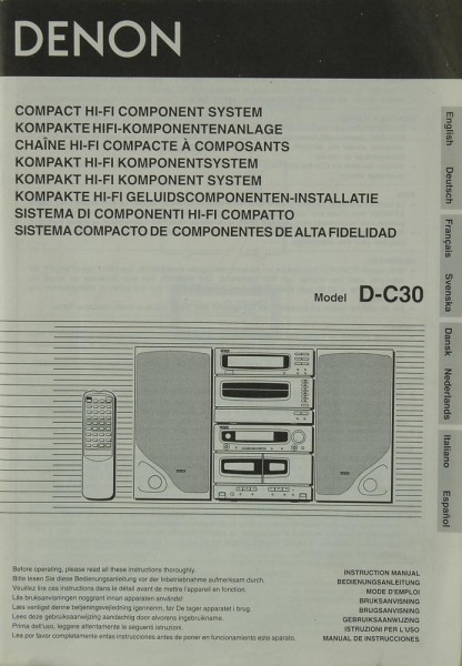 Denon D-C 30 Bedienungsanleitung