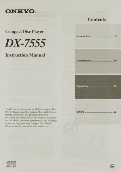 Onkyo DX-7555 Bedienungsanleitung