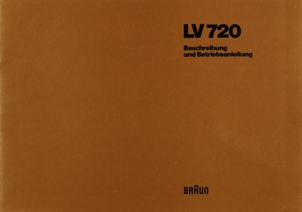 Braun LV 720 Bedienungsanleitung